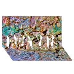 Abstract Background Wall 1 Best Sis 3d Greeting Card (8x4)  by Costasonlineshop