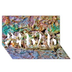 Abstract Background Wall 1 #1 Dad 3d Greeting Card (8x4)