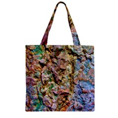 Abstract Background Wallpaper 1 Zipper Grocery Tote Bags by Costasonlineshop