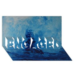 Lost At Sea Engaged 3d Greeting Card (8x4)