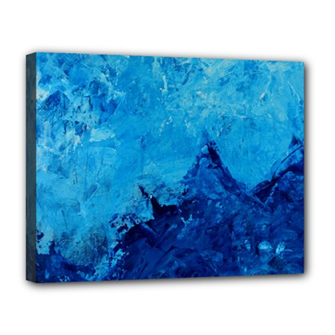 Waves Canvas 14  X 11  by timelessartoncanvas