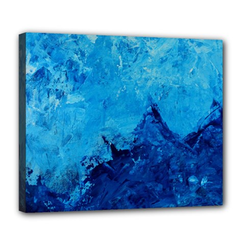 Waves Deluxe Canvas 24  X 20   by timelessartoncanvas