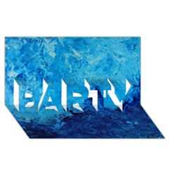 Waves Party 3d Greeting Card (8x4)