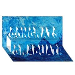 Waves Congrats Graduate 3d Greeting Card (8x4)
