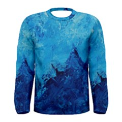 Waves Men s Long Sleeve T Shirts by timelessartoncanvas