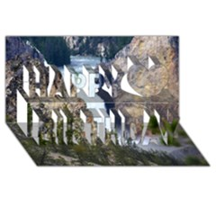 Yellowstone Waterfall Happy Birthday 3d Greeting Card (8x4)  by trendistuff
