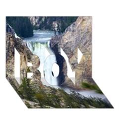 Yellowstone Waterfall Boy 3d Greeting Card (7x5)