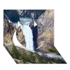 Yellowstone Waterfall Heart 3d Greeting Card (7x5)