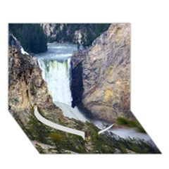 Yellowstone Waterfall Heart Bottom 3d Greeting Card (7x5)