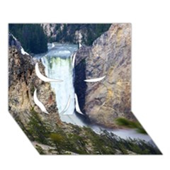 Yellowstone Waterfall Clover 3d Greeting Card (7x5)