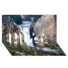 Yellowstone Waterfall Hugs 3d Greeting Card (8x4)  by trendistuff