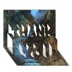 Yellowstone Lower Falls Thank You 3d Greeting Card (7x5)  by trendistuff