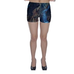 YELLOWSTONE LOWER FALLS Skinny Shorts by trendistuff
