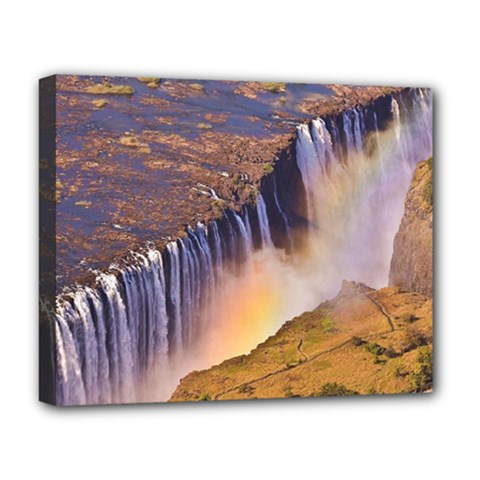 Waterfall Africa Zambia Deluxe Canvas 20  X 16   by trendistuff