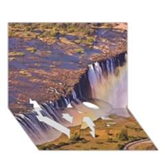 Waterfall Africa Zambia Love Bottom 3d Greeting Card (7x5)