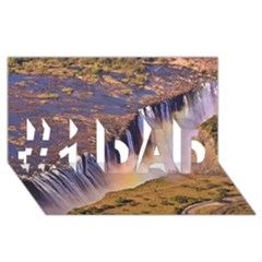 Waterfall Africa Zambia #1 Dad 3d Greeting Card (8x4)
