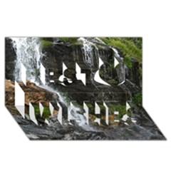 Waterfall Best Wish 3d Greeting Card (8x4)