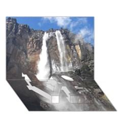 Salto Del Angel Love Bottom 3d Greeting Card (7x5)