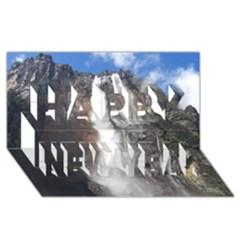 Salto Del Angel Happy New Year 3d Greeting Card (8x4)