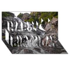 Mountain Waterfall Happy Birthday 3d Greeting Card (8x4)