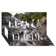 Mountain Waterfall Best Friends 3d Greeting Card (8x4)  by trendistuff