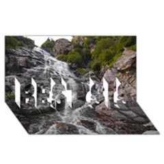 Mountain Waterfall Best Sis 3d Greeting Card (8x4)  by trendistuff