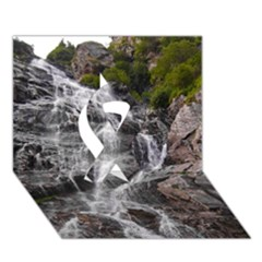 Mountain Waterfall Ribbon 3d Greeting Card (7x5)  by trendistuff