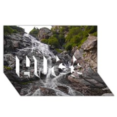Mountain Waterfall Hugs 3d Greeting Card (8x4)