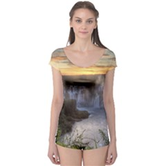 Iguazu Falls Short Sleeve Leotard by trendistuff