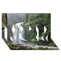 Hopetoun Falls Mom 3d Greeting Card (8x4)