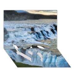 Gullfoss Waterfalls 2 Love Bottom 3d Greeting Card (7x5)
