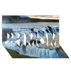 Gullfoss Waterfalls 2 #1 Mom 3d Greeting Cards (8x4)