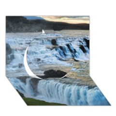 Gullfoss Waterfalls 2 Circle 3d Greeting Card (7x5)  by trendistuff