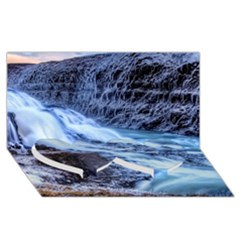 Gullfoss Waterfalls 1 Twin Heart Bottom 3d Greeting Card (8x4)