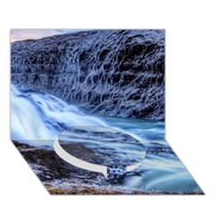 Gullfoss Waterfalls 1 Circle Bottom 3d Greeting Card (7x5)