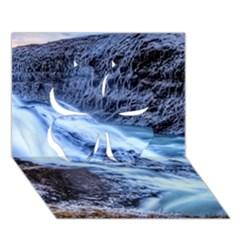 Gullfoss Waterfalls 1 Clover 3d Greeting Card (7x5)