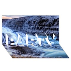 Gullfoss Waterfalls 1 Party 3d Greeting Card (8x4)