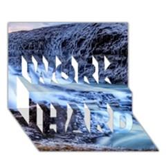 Gullfoss Waterfalls 1 Work Hard 3d Greeting Card (7x5)
