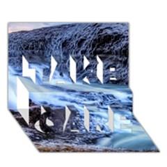 Gullfoss Waterfalls 1 Take Care 3d Greeting Card (7x5)