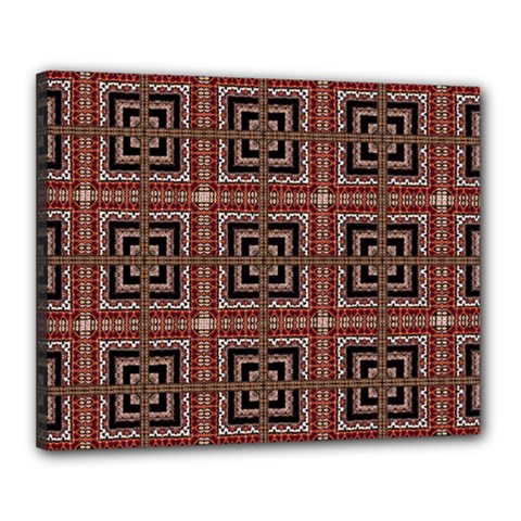 Check Ornate Pattern Canvas 20  X 16  by dflcprints