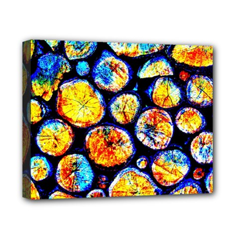 Woodpile Abstract Canvas 10  X 8  by Costasonlineshop