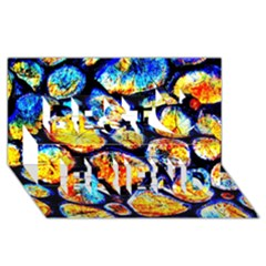 Woodpile Abstract Best Friends 3d Greeting Card (8x4)  by Costasonlineshop