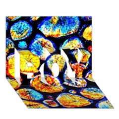 Woodpile Abstract Boy 3d Greeting Card (7x5)