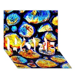 Woodpile Abstract Hope 3d Greeting Card (7x5)  by Costasonlineshop