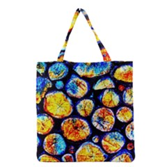 Woodpile Abstract Grocery Tote Bags by Costasonlineshop