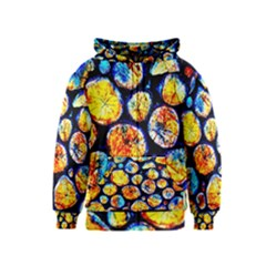 Woodpile Abstract Kids Zipper Hoodies by Costasonlineshop
