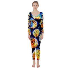 Woodpile Abstract Long Sleeve Catsuit by Costasonlineshop