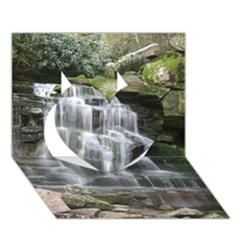 Elakala Falls Heart 3d Greeting Card (7x5)