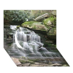 Elakala Falls Circle 3d Greeting Card (7x5)