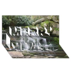 Elakala Falls Merry Xmas 3d Greeting Card (8x4)  by trendistuff